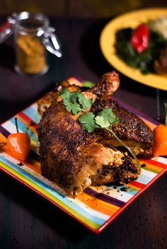 Roasted Chicken with Sri Lankan Curry Powder | #curry #curried #roastedchicken #chicken #dinner