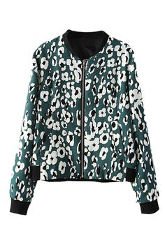 abaday | Floral Print Green Jacket, The Latest Street Fashion