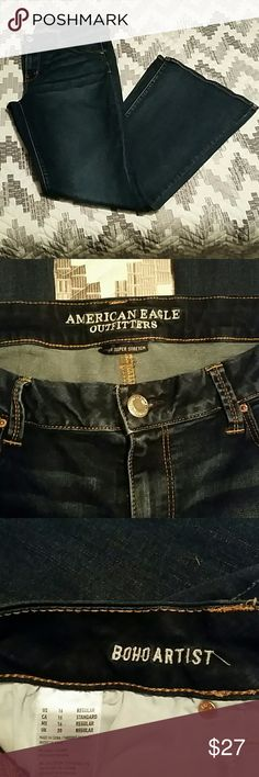American eagle boho artist flare EUC, only worn once or twice. American eagle boho artist flare (super stretch) regular length. American Eagle Outfitters Jeans Flare & Wide Leg