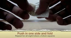 Picture of Push in One Side and Fold Origami Ball, Easy Origami, Origami Boxes, Origami Paper, Geek Cross Stitch, Cross Stitch Bookmarks, Origami Instructions, Origami Tutorial, Diy Projects Origami
