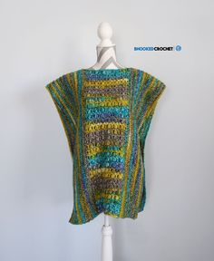 Crochet Dresses Patterns Mystery Crochet Poncho By Brittany - Free Crochet Pattern - (bhookedcrochet) - Join me in the 2017 Mystery Poncho Crochet Along! We'll learn a new stitch and make a gorgeous crochet poncho in the process. Crochet Poncho Patterns, Crochet Cardigan, Crochet Scarves, Crochet Shawl, Crochet Clothes, Easy Crochet, Free Crochet, Crochet Shrugs, Crochet Sweaters