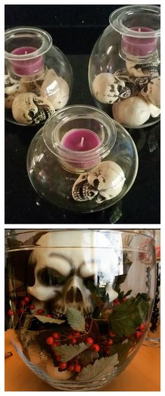 Looking for decor that will really haunt your halls this Halloween? Nothing sets a creepy mood like   a few well-placed candles. The PartyLite Clearly Creative DIY collection offers a blank canvas for all your DIY decorating needs. Add some spooky skulls, Halloween candy and our seasonal favorite fragrance, Hocus Pocus for fun  - or frightening - atmosphere. FInd yours at PartyLite.com.