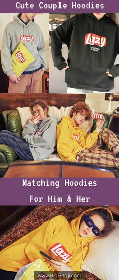 Super Cute Matching couple hoodies for teen couples, boyfriend girlfriend husband and wife. They are quite warm and made of thick material. Cute Couple Hoodies, Matching Hoodies For Couples, Couple Shirts, Korean Fashion Winter, Korean Fashion Trends, Holiday Fashion, Fashion 101, Couple Outfits, Couple Clothes