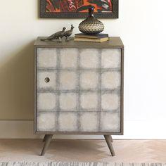 DwellStudio Franklin Side Cabinet in Silver Leaf   DwellStudio