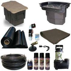 20 x 30 PVC Large Koi Pond Kit 5500 GPH Pump Big Bahama 26 Inch Waterfall and Oasis Skimmer - Great Affordable Backyard ideas