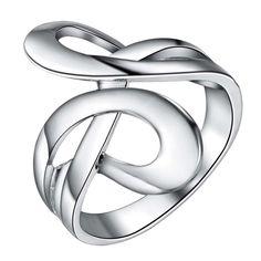 Bling блестящий Горячей посеребренные Кольцо, ювелирные изделия Кольца,/JQVIHKWC JRKWESKC