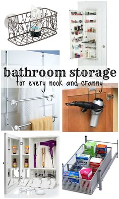 Make smart use of your bathroom space with these space-saving and awesome storage ideas! @Remodelaholic #spon #bathroom #organize