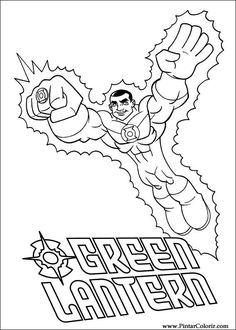 tegninger til farvelgning super friends 4