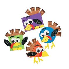 Shape Turkey Craft Kit, Coloring Crafts, Crafts for Kids, Craft & Hobby Supplies - Oriental Trading Craft Projects For Kids, Craft Kits, Craft Ideas, Preschool Art Projects, Fall Projects, Baby Crafts, Fun Crafts, Fall Arts And Crafts, Adult Crafts
