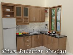 Design Kitchen Set model kitchen set l mini untuk dapur mungil 8 – dinding warna krem