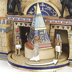 Ancient Egyptian Cuckoo Clock.Intricately handcrafted and lavished with tributes to the magnificent culture of ancient Egypt, this cuckoo clock showcases intri