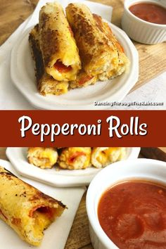 When trying to figure out how to make grilled cheese more interesting, look no further than these Pepperoni Rolls! With only four ingredients, this is one of those easy sandwich ideas that you'll keep coming back to! Entree Recipes, Appetizer Recipes, Dessert Recipes, Cooking Recipes, Healthy Recipes, Cheap Recipes, Cooking Ideas, Delicious Recipes, Appetizers