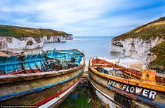 This picture taken in the morning at Flamborough was selected as one of David Zdanowicz's best British Landscapes of 2015