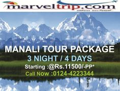 Manali Tour Packages  at http://www.marveltrip.com/