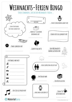 Christmas holidays Bingo - Pin This Bingo, Winter Holidays, Christmas Holidays, Kindergarten Portfolio, Learn German, Too Cool For School, Classroom Management, Special Education, Christmas Vacation