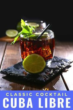 The Cuba Libre cocktail isn't just rum and Coke, it also comes with a fascinating history. You'd be surprised who named this drink and why this cocktail with rum, Coke and lime is still popular when you travel to Cuba. #cuba #travel #rum #cocktail #drink #cubalibre #rumandcoke #lime #classic #recipe Classic Cocktails, Fun Cocktails, Cocktail Drinks, Fun Drinks, Yummy Drinks, Beverages, Best Cocktail Recipes, Drink Recipes, Alcoholic Milkshake