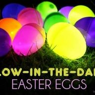 Glow-in-the-dark Easter eggs.