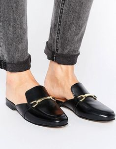 ASOS | ASOS MOVIE Leather Mule Loafers $56