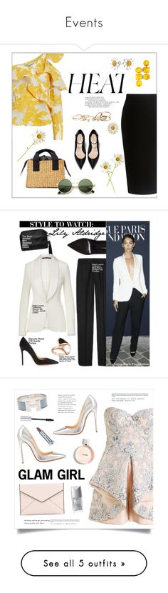 """""""Events"""" by briwashington ❤ liked on Polyvore featuring Theory, self-portrait, GUESS, Bling Jewelry, Gianvito Rossi, Ralph Lauren Collection, Bulgari, lilyaldridge, styletowatch and Mikael D"""