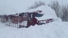 CP Rail stuck in snow near Unity, Saskatchewan.  21 March, 2013.