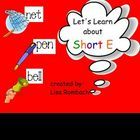 Learn about the sound of short E!  Interactive smart board lesson (.notebook file) $