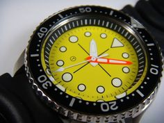 """Seiko 007 Diver mod by Harold """"Seikoboy"""" Yobokies Nice Watches, Dream Watches, Men's Watches, Watches For Men, Seiko Mod, Seiko Diver, Free Photos, Photo Galleries, Photo Editing"""