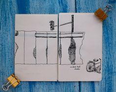 Urban Sketching - Pen -  Black & White by Rita Caré