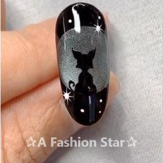 "Nail Art ""A Fashion Star"" - Nails - Nageldesign Nail Art Designs Videos, Nail Design Video, Nail Art Videos, Cool Nail Designs, Nails Design, Cat Nail Art, Cat Nails, Nail Art Diy, Manicure E Pedicure"