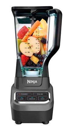Ninja Professional Countertop Blender with Base and Total Crushing Technology for Smoothies, Ice and Frozen Fruit Black. The Ninja professional blender 1000 features a sleek design and outstanding performance with 1000 watts of professional power. Fruit Blender, Smoothie Blender, Hand Blender, Smoothies, Smoothie Recipes, Blender Food Processor, Food Processor Recipes, Ninja Professional Blender, Bulthaup Kitchen