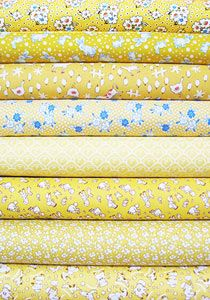1930's Reproduction Fabric Bundle - Yellow