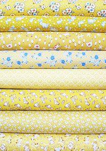 1930's Reproduction Fabric Bundle - Yellow