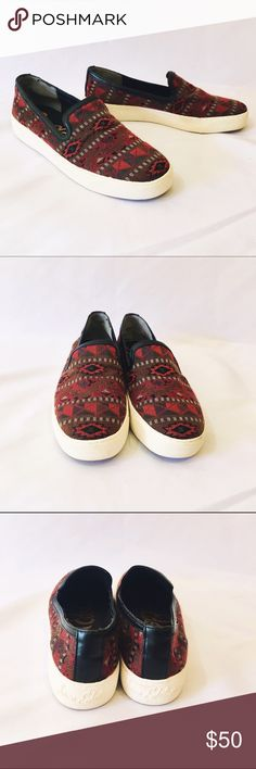 SAM EDELMAN patterned southwest slip on sneakers Like new condition. Sam Edelman Shoes Flats & Loafers