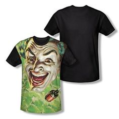 Batman Classic TV Laugh Gas All Over Print Youth Black Back T-Shirt