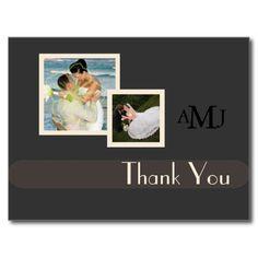 Wedding Photos Thank you postcards, plain