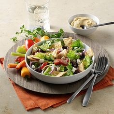 I'm checking out a delicious recipe for Crispy Pita Salad from Kroger!