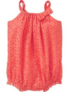 Eyelet Bubble Romper - this color will look amazing on little girls
