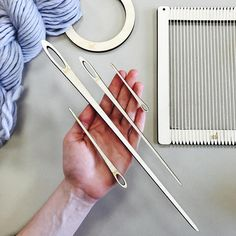 Weaving Loom Needles.  Tapestry Small, Medium, Large, Extra Large needles for a lap loom.  Learn to weave.  Beginners learn to weave.
