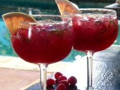 Raspberry Picante Paloma Pitchers Recipe : Guy Fieri : Raspberries, Tequila, Red Grapefruit juice, Lime Juice, agave, 7 Up