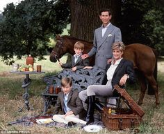 diana, Princess Royal | Fit for a prince: Charles, Diana and their sons William and Harry in a ...