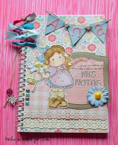 libretas decoradas con scrapbooking - Buscar con Google Altered Composition Notebooks, Post It Note Holders, Agenda Planner, Note Paper, Scrapbook Albums, Bookbinding, Craft Items, Scrapbooks, Decoupage