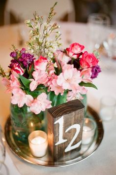 Wooden #TableNumber I A Vintage Affair Events & Rentals I #weddingcenterpiece #vintagecenterpiece