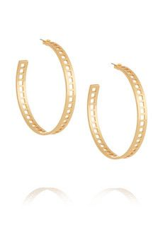 Arme De L'Amour Gold-plated hoop earrings | NET-A-PORTER