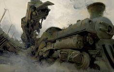 Trains, Ivan Solyaev on ArtStation at https://www.artstation.com/artwork/trains-9724f76b-6299-495e-aefd-c7b4a5b57cb6