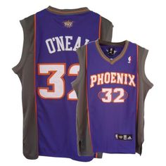 Adidas Phoenix Suns #32 Shaquille O\'Neal Purple Road Authentic NBA Jersey