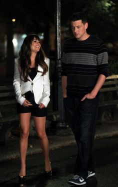 Cory Monteith & Lea Michele..... love her legs and body and I have it now! :D