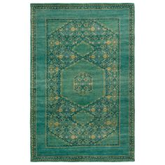 The Surya Haven wool rug captivates with intricate detail and stunning global inspiration. Geometric accents combine with floral details to create this floor covering, lending living areas and bedrooms a chic update to traditional design. A choice of three colors supplies versatility, while the hand-knotted wool construction offers plush underfoot comfort. Sizes: 2ft W x 3ft L, 3ft-6in W x 5ft-6in L, 5ft-6in W x 8ft-6in L, 8ft W x 11ft L, 9ft W x 13ft L; Colors: Mint, Denim, and Teal; 100%…