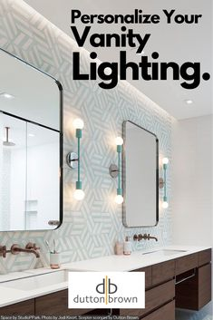 Personalize your bathroom with modern bathroom vanity lighting from Dutton Brown. Beautiful Bathrooms, Modern Bathroom, Small Bathroom, Master Bathroom, Eclectic Bathroom, Scandinavian Bathroom, Shower Bathroom, Dream Bathrooms, White Bathroom