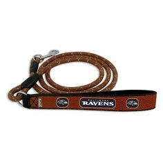 Baltimore Ravens Frozen Rope Leather Dog Leash