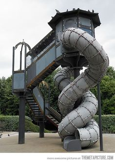 Steampunk slide for children = AWESOME