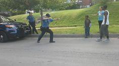 Missouri police officer busts a move and loses dance-off with kids in viral video